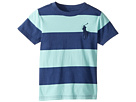 Polo Ralph Lauren Kids - 30/1 Yarn-Dyed Jersey Short Sleeve Crew Neck Striped Top (Toddler)