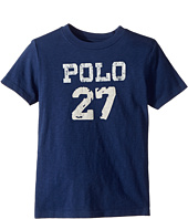 Polo Ralph Lauren Kids - 30/1 Slub Jersey Short Sleeve Crew Neck 2 Top (Little Kids/Big Kids)