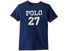 Polo Ralph Lauren Kids - 30/1 Slub Jersey Short Sleeve Crew Neck 2 Top (Little Kids/Big Kids)