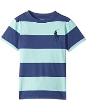 Polo Ralph Lauren Kids - 30/1 Yarn-Dyed Jersey Short Sleeve Crew Neck Striped Top (Little Kids/Big Kids)