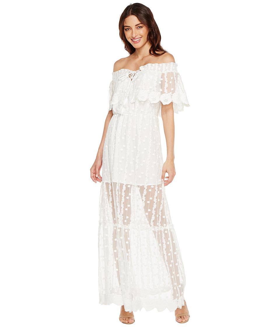 Adelyn Rae Josephine Woven Maxi Dress (White) Women