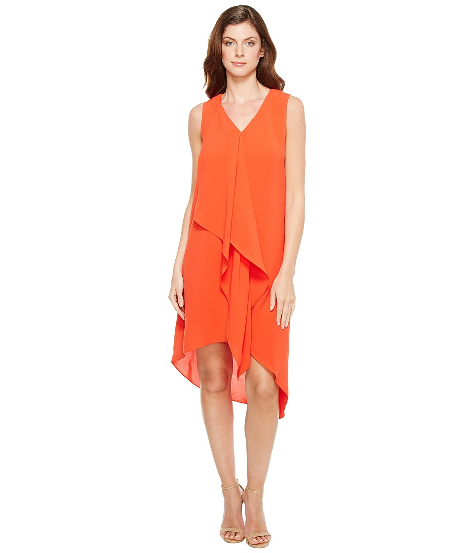 Adrianna Papell - Asymmetrical Front Drape Dress