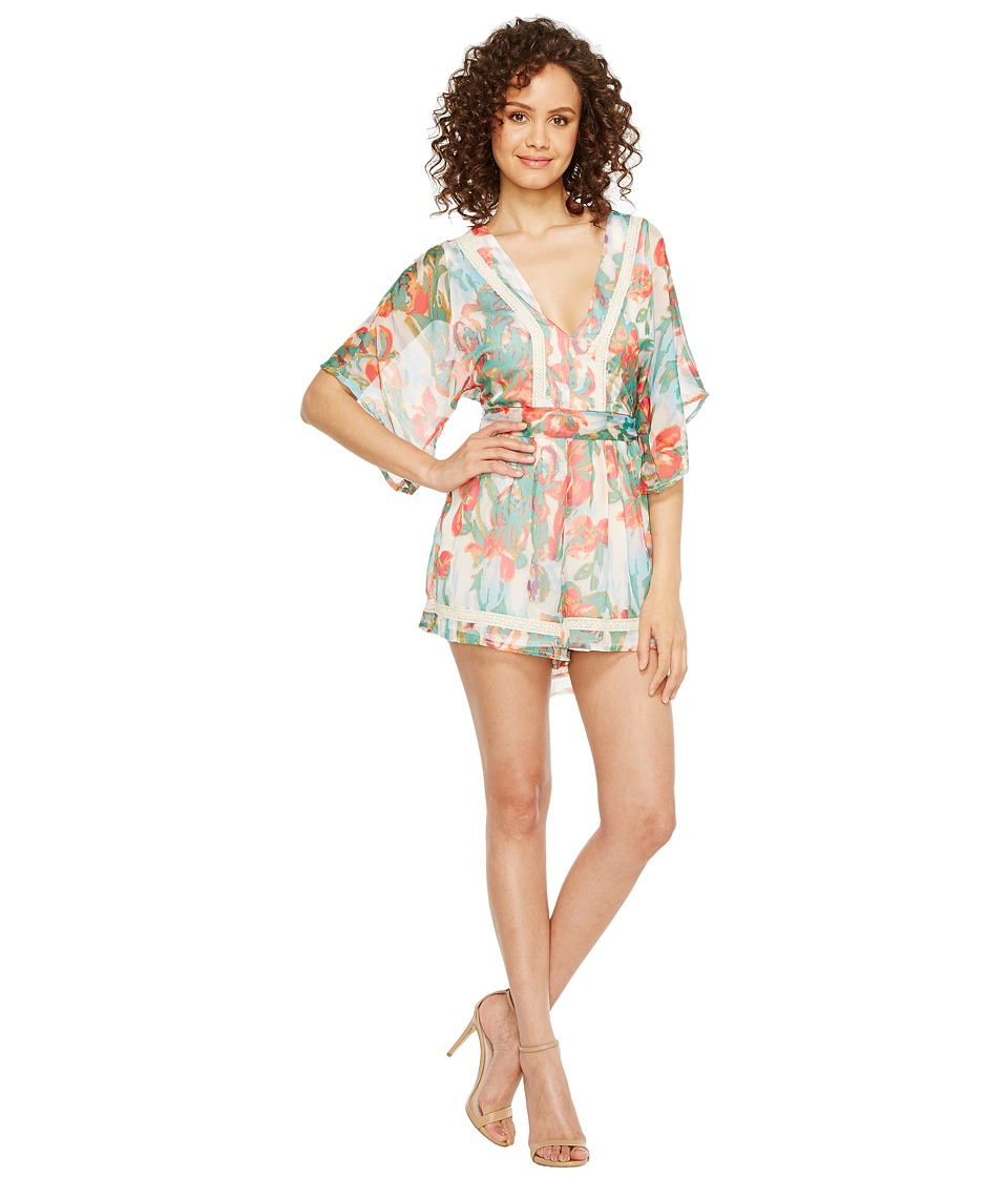 Adelyn Rae - Mallory Woven Tie Romper