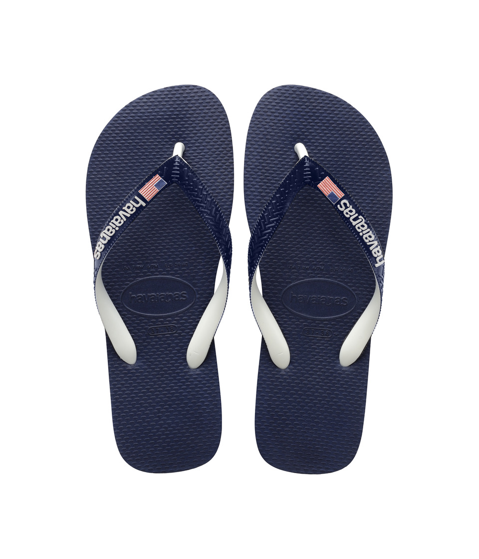 Havaianas - USA Logo Sandal (Navy Blue) Womens Sandals