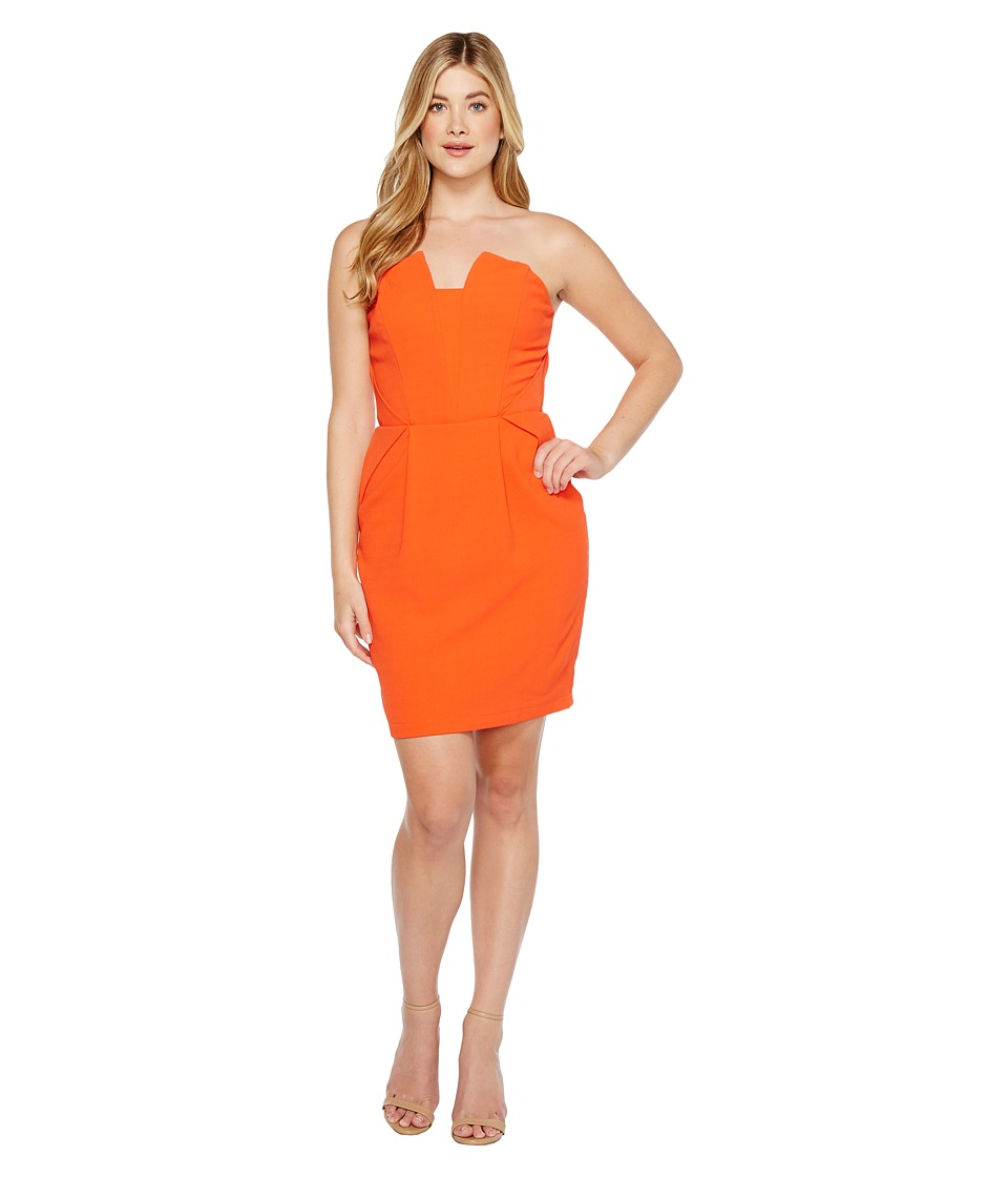 Adelyn Rae Rosalyn Woven Tube Dress (Orange) Women