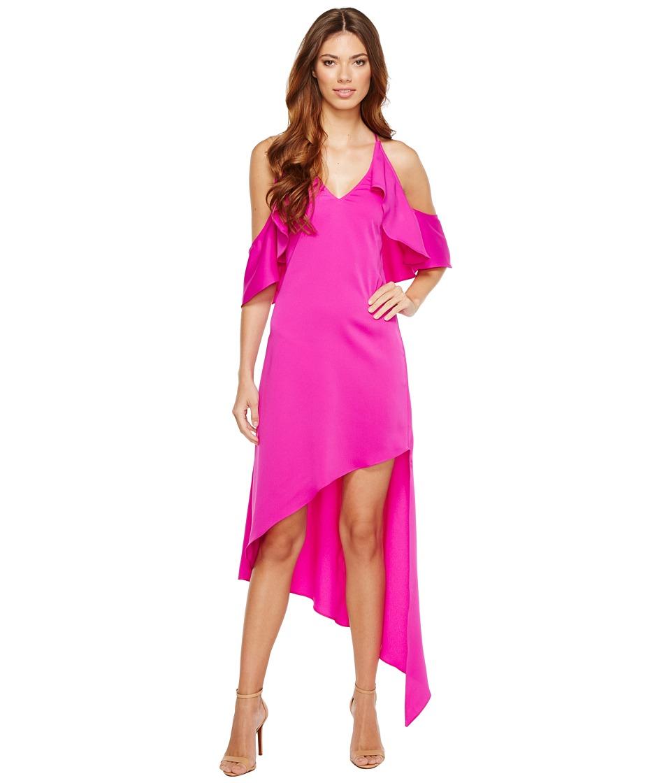 Adelyn Rae Oliana Woven Slip Dress (Hot Pink) Women