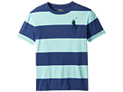 Polo Ralph Lauren Kids - 30/1 Yarn-Dyed Jersey Short Sleeve Crew Neck Striped Top (Big Kids)