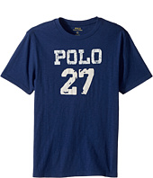 Polo Ralph Lauren Kids - 30/1 Slub Jersey Short Sleeve Crew Neck 2 Top (Big Kids)