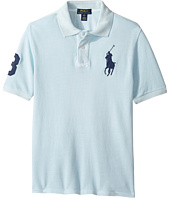 Polo Ralph Lauren Kids - Basic Mesh Dyed Short Sleeve Knit Collar Top (Big Kids)