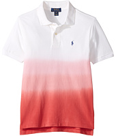 Polo Ralph Lauren Kids - Basic Mesh Dip-Dye Knit Collar Top (Big Kids)