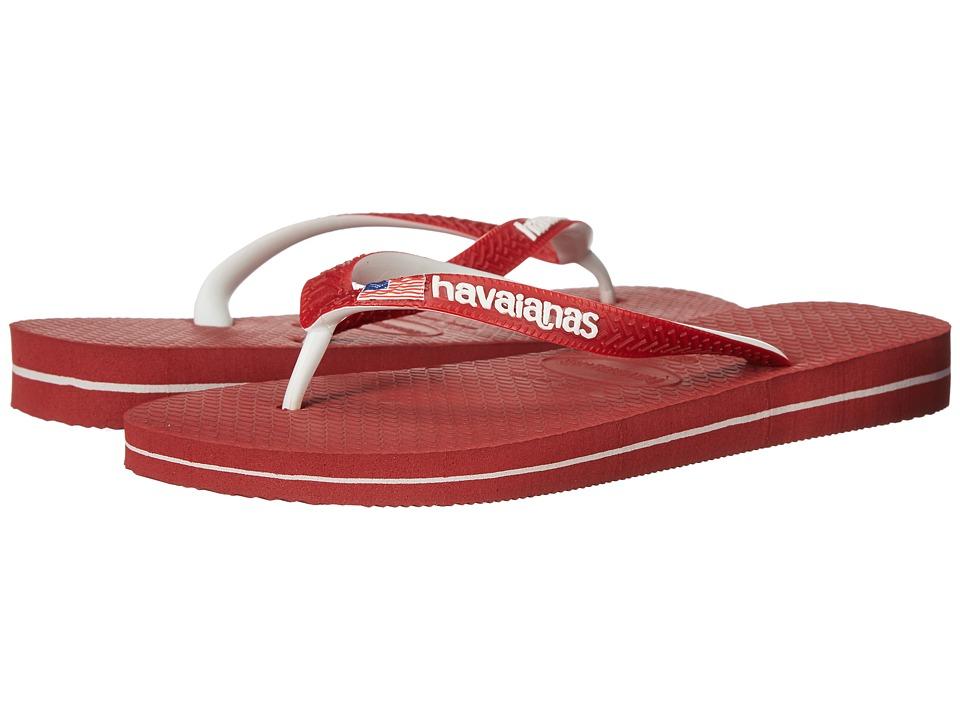 Havaianas - USA Logo Sandal (Red) Women's Sandals