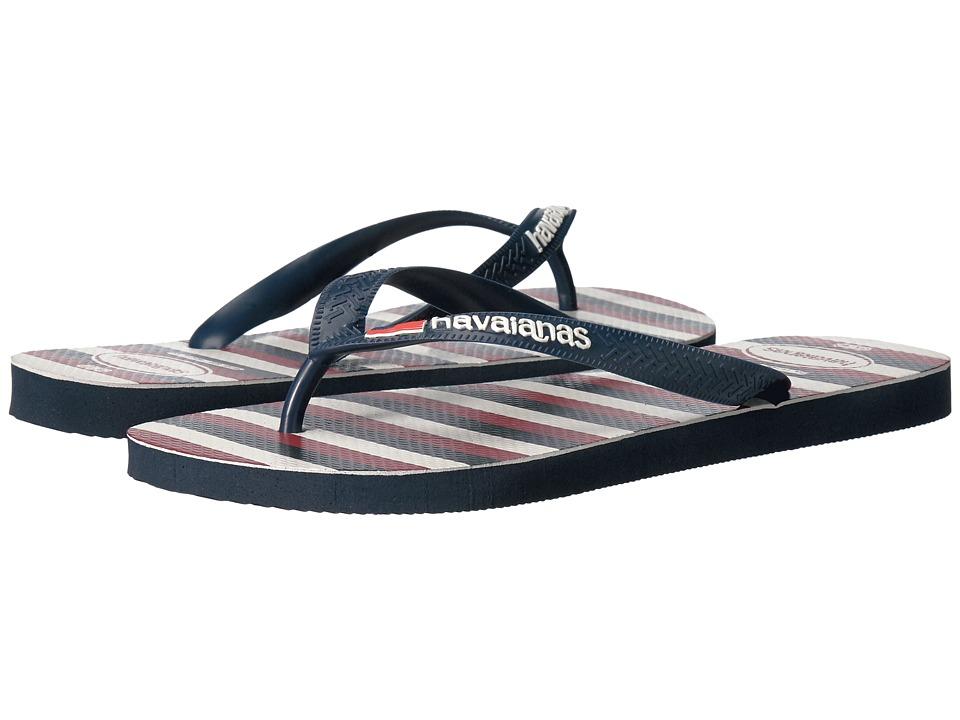 Havaianas Top USA Stripe Sandal (Navy Blue) Men