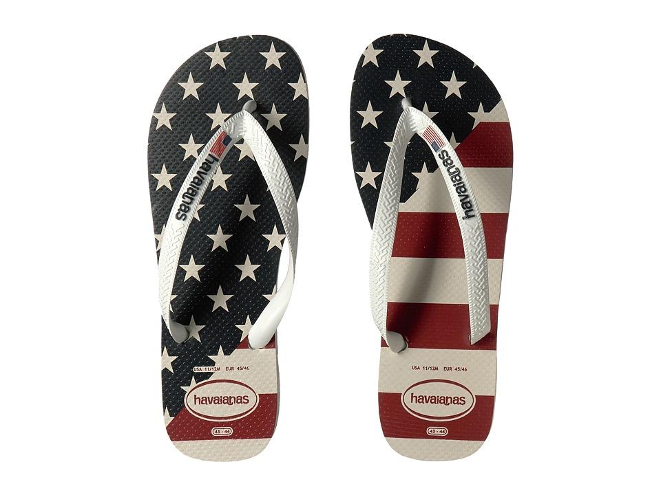 Havaianas Top USA Flag Sandal (White) Men