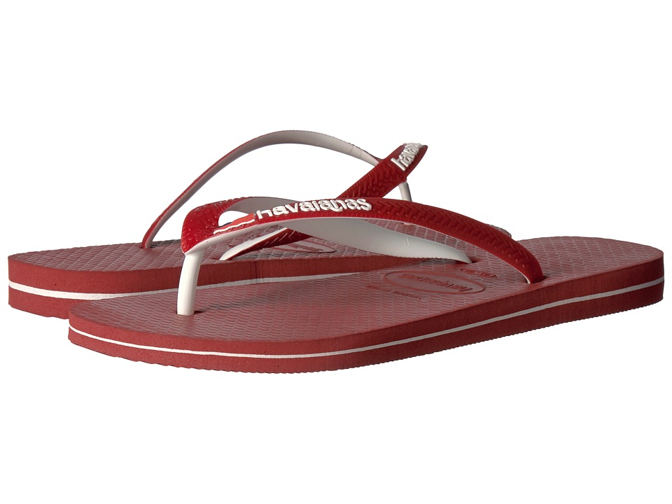 Havaianas - USA Logo Sandal (Red) Men's Sandals