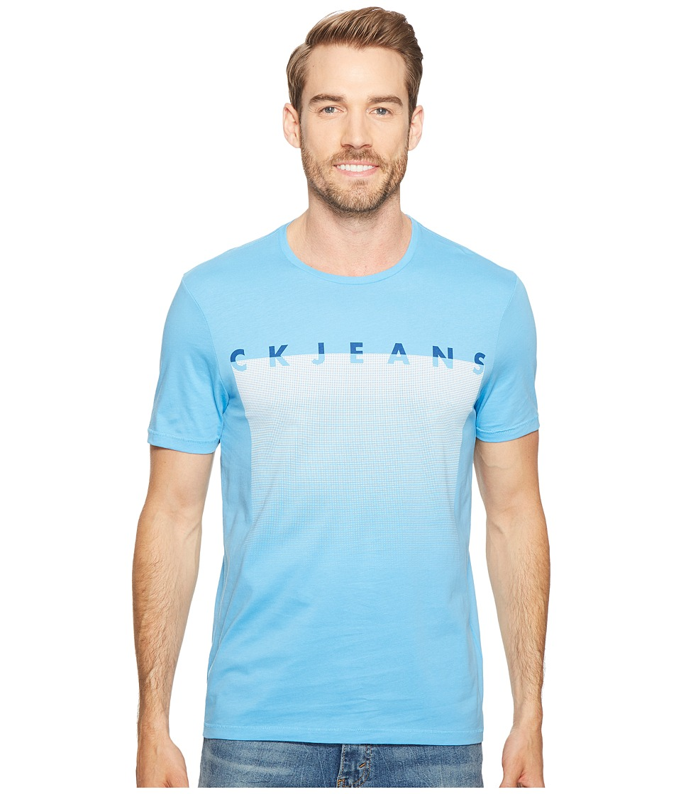 Calvin Klein Jeans Mesh Horizon Crew Neck T-Shirt (Wild Blue) Men