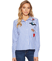ROMEO & JULIET COUTURE - Stripe Shirt with Patches