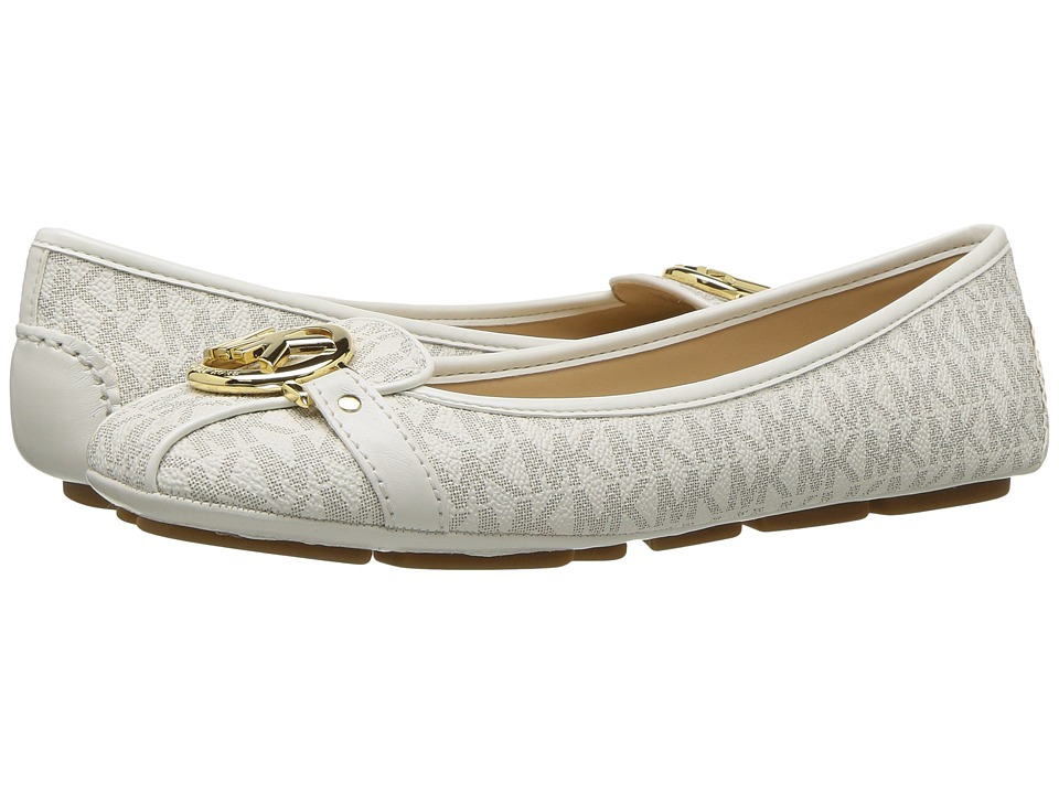 MICHAEL Michael Kors Fulton Moc (Vanilla Mini MK Logo Coated Canvas) Slip-On Shoes