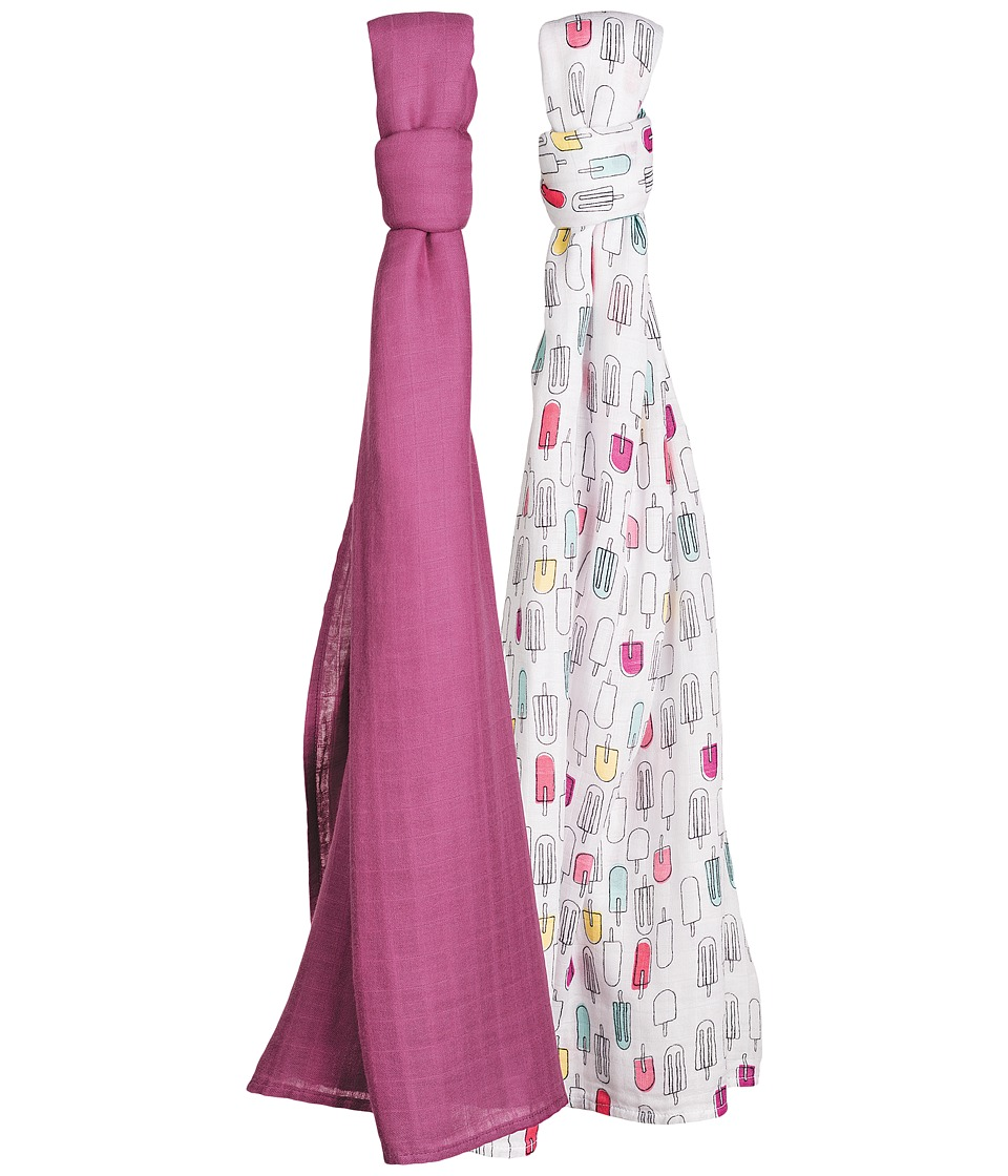 Bebe au Lait - Luxury Muslin Swaddle Set (Popsicles/Cherry) Accessories Travel