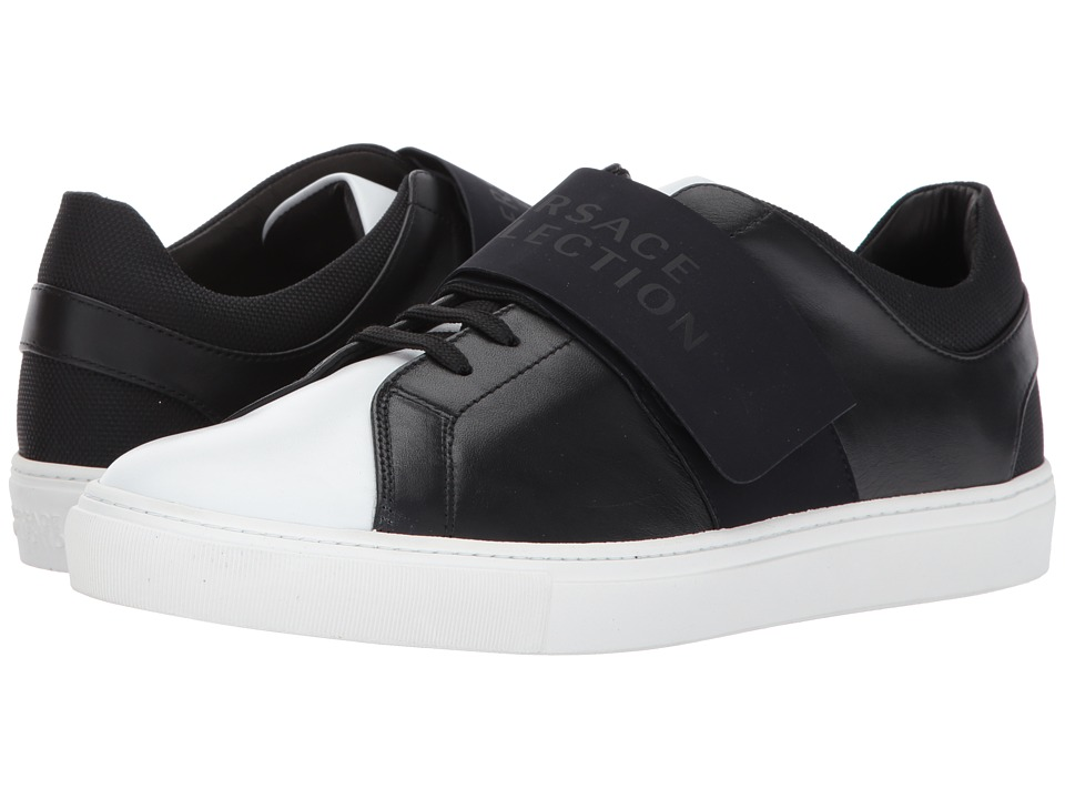 Versace Collection - Velcro Low Top (White/Black) Men's S...