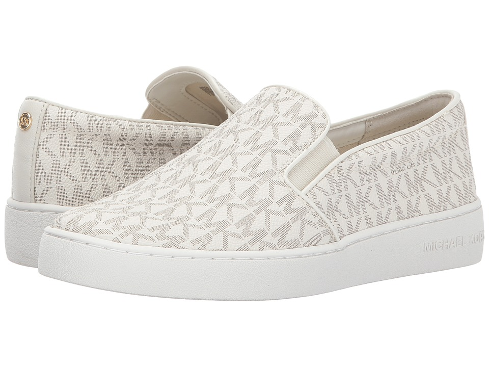 MICHAEL Michael Kors Keaton Slip-On (Vanilla Mini MK Logo Coated Canvas/Suprema Nappa Sport) Slip-On Shoes