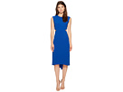 Halston Heritage - Cap Sleeve Round Neck Dress w/ Back Cut Out