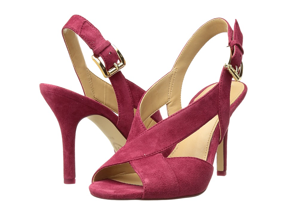 MICHAEL Michael Kors - Becky Sandal (Cranberry Kid Suede) Womens Dress Sandals