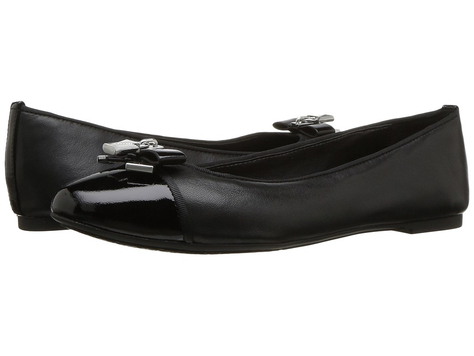 MICHAEL Michael Kors Alice Ballet (Black Nappa/Patent) Women