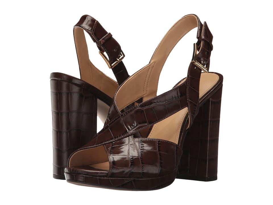MICHAEL Michael Kors Becky Platform (Nutmeg Embossed Croco) Women