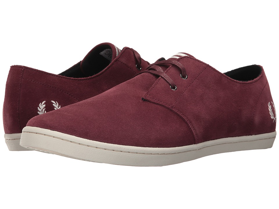 Fred Perry Byron Low Suede (Port/Porcelain) Men