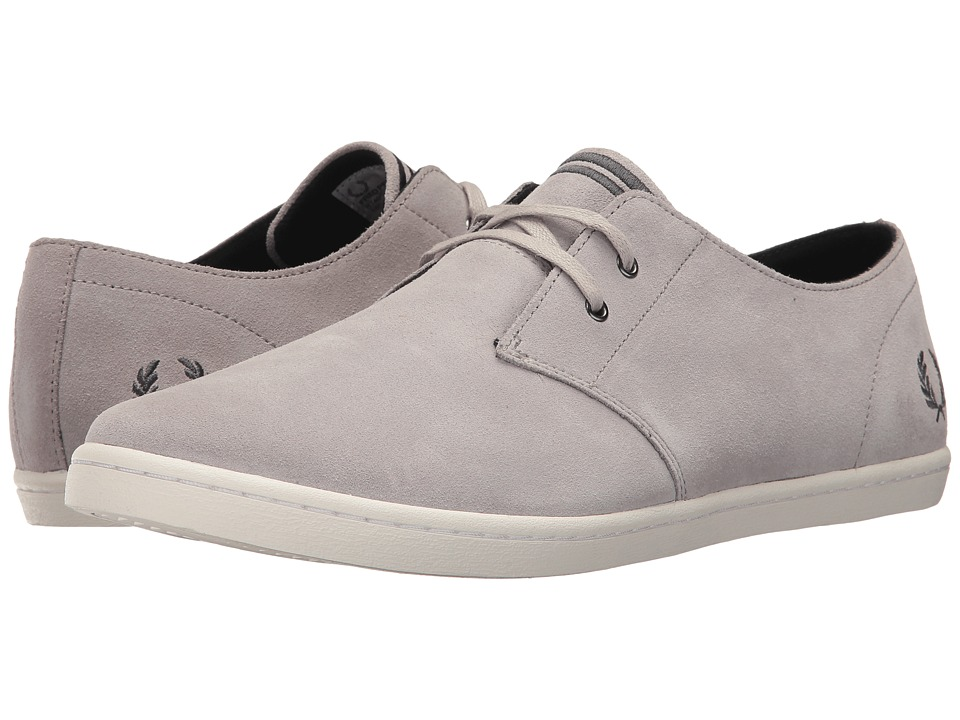 Fred Perry - Byron Low Suede (164 Silver/Charcoal) Mens Shoes