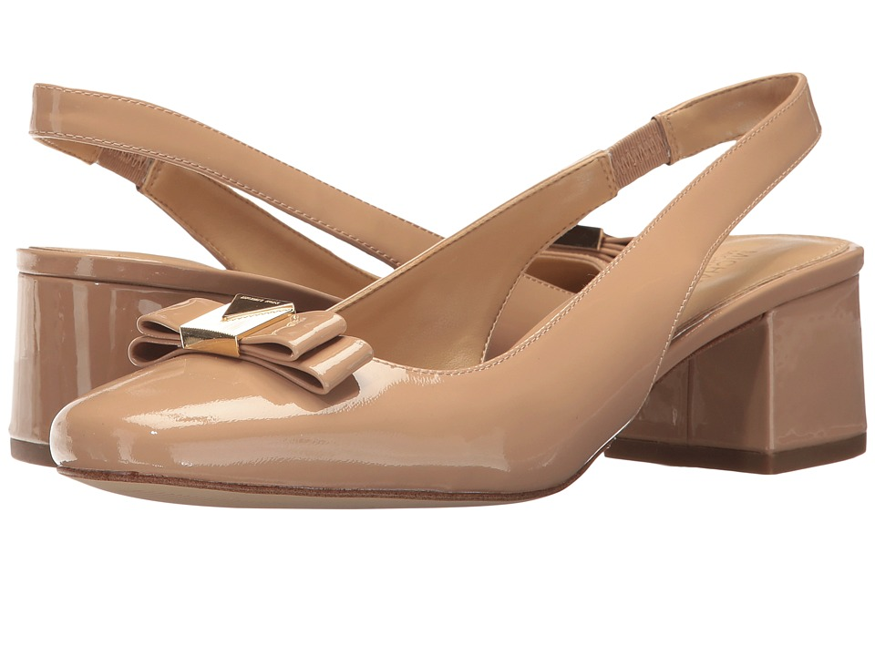 MICHAEL Michael Kors - Caroline Sling (Toffee Patent) Womens Shoes