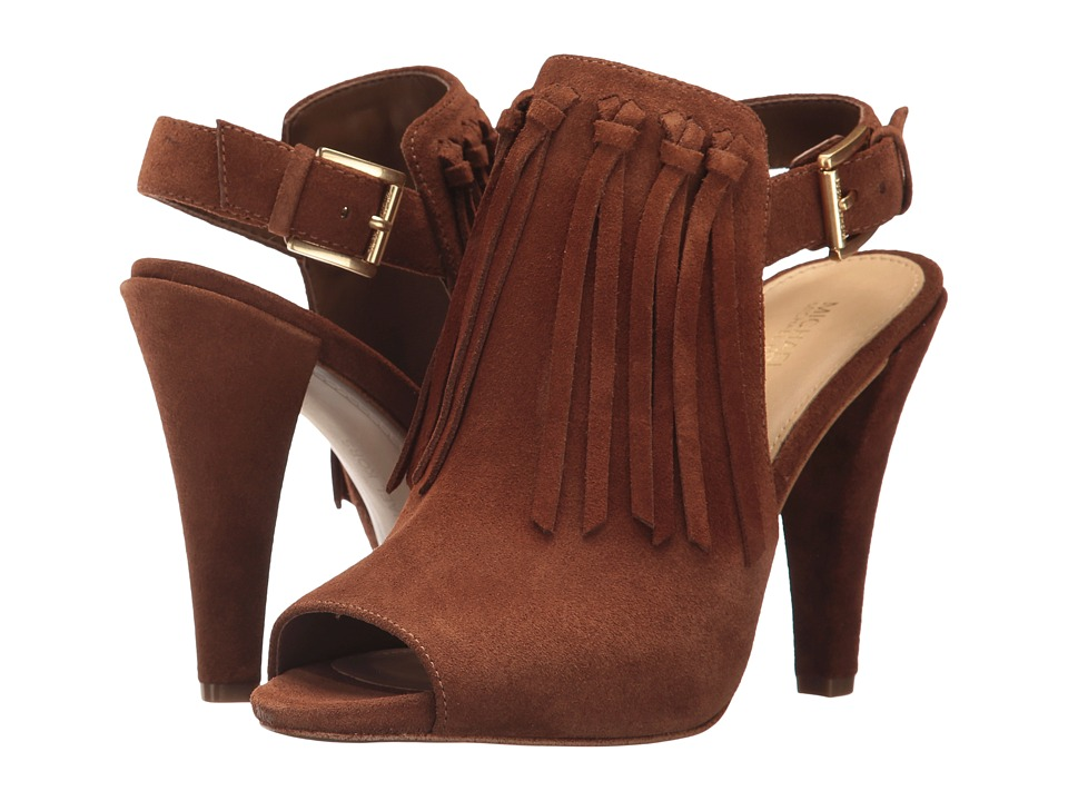 MICHAEL Michael Kors - Kassidy Open Toe (Dark Caramel Sport Suede) Womens Shoes
