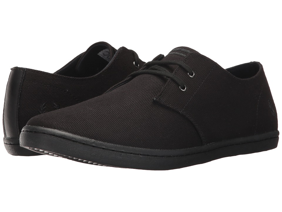 Fred Perry - Byron Low Twill (Black/Black) Men's Shoes
