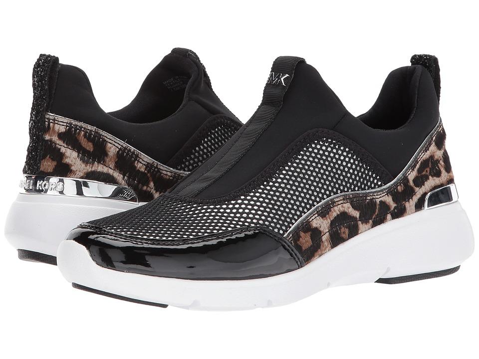 MICHAEL Michael Kors Ace Sneaker (Black Net Mesh/Scuba/Chunky Glitter) Women