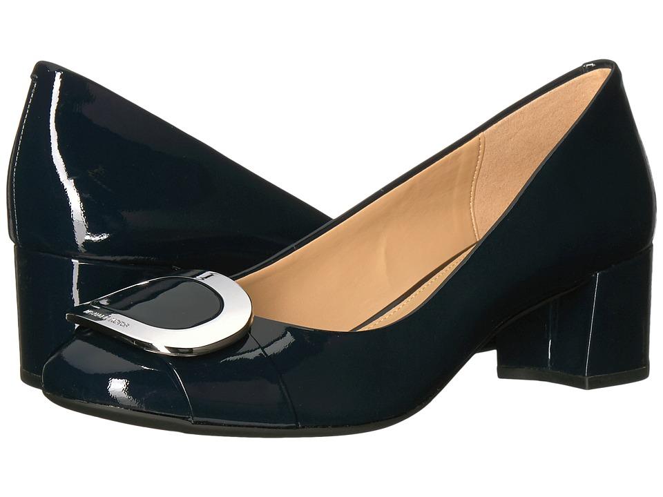 Michael Kors Pauline Mid Pump (Admiral Patent) Women's Shoes
