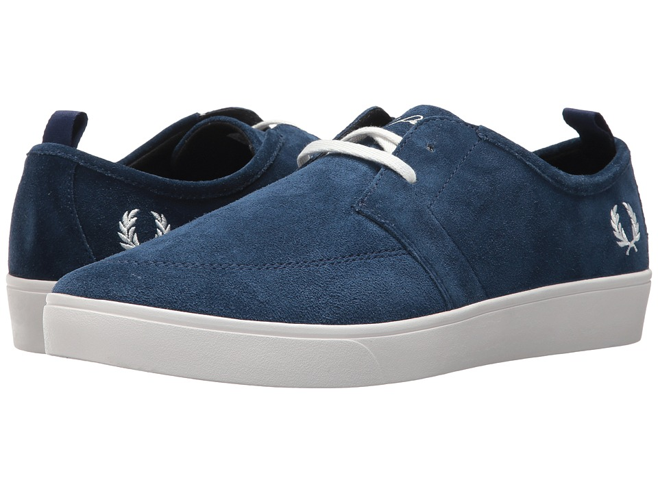 Fred Perry Sheilds Suede (Mid Imperial/Snow White) Men