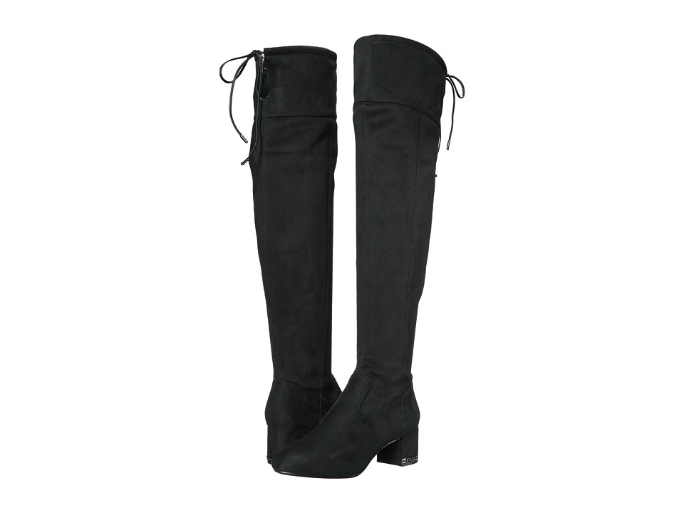 MICHAEL Michael Kors Jamie Over the Knee Boot (Black Stretch Suede) Women