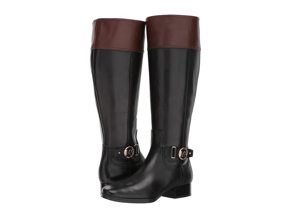 MICHAEL Michael Kors Harland Boot Wide Calf (Black/Mocha Vachetta/Wide Shaft) Women