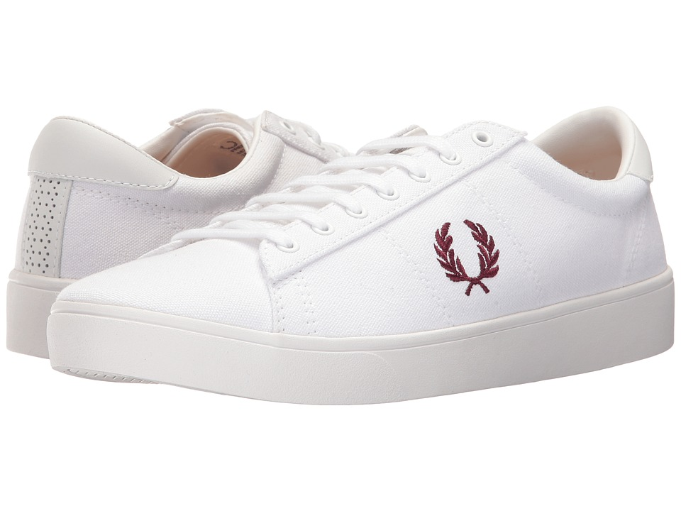 Fred Perry Spencer Canvas (White/Port) Men