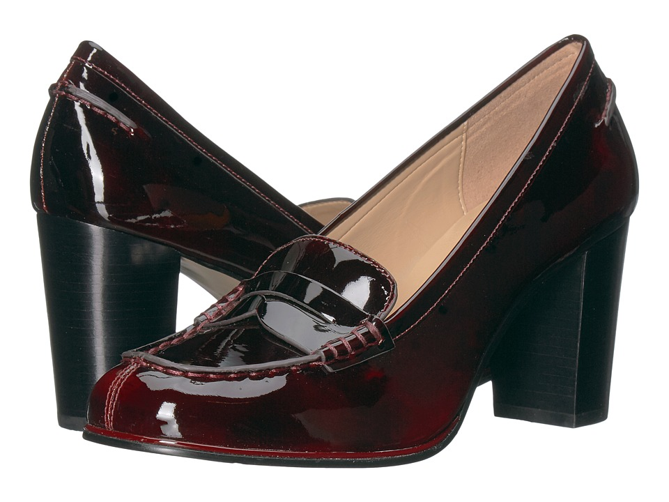 Michael Kors Bayville Loafer (Deep Red Pull-Up Patent) Hi...