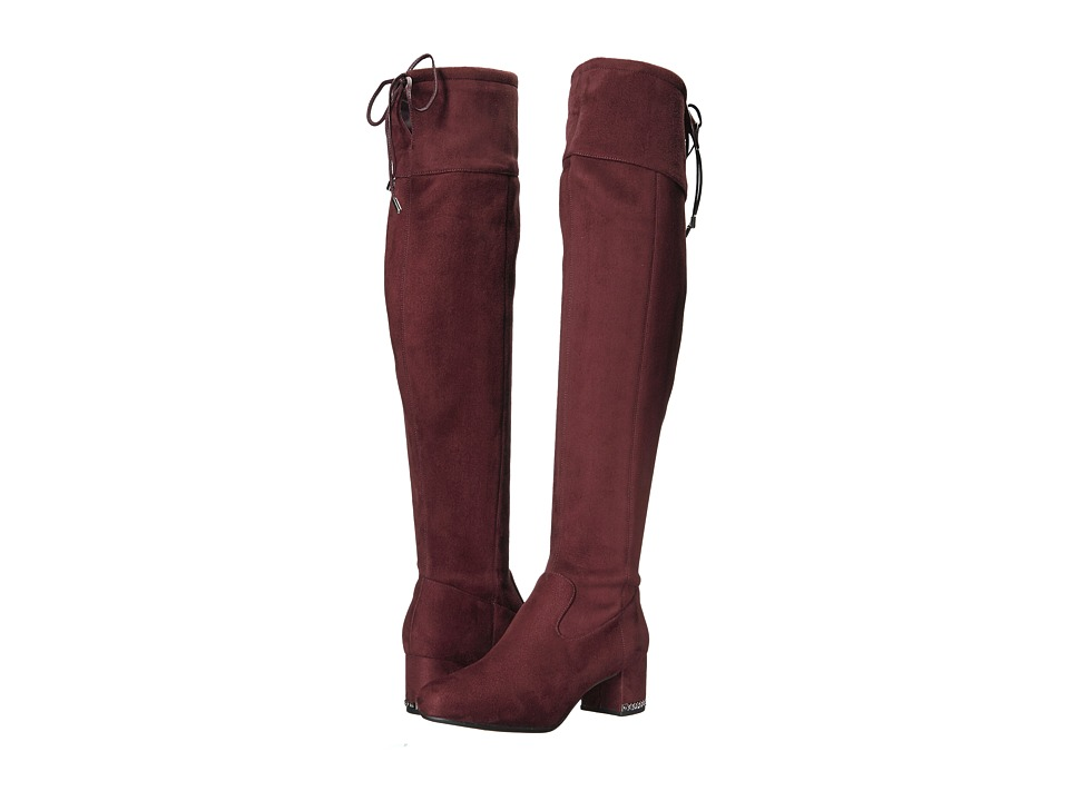 MICHAEL Michael Kors Jamie Over the Knee Boot (Damson Stretch Suede) Women