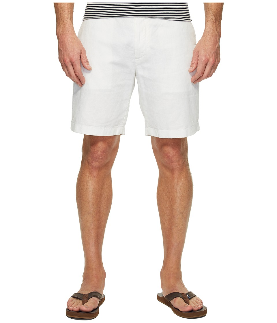 Nautica Linen Cotton Shorts (Bright White) Men