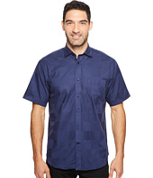 Thomas Dean & Co. - Short Sleeve Large Tonal Check Sport Shirt