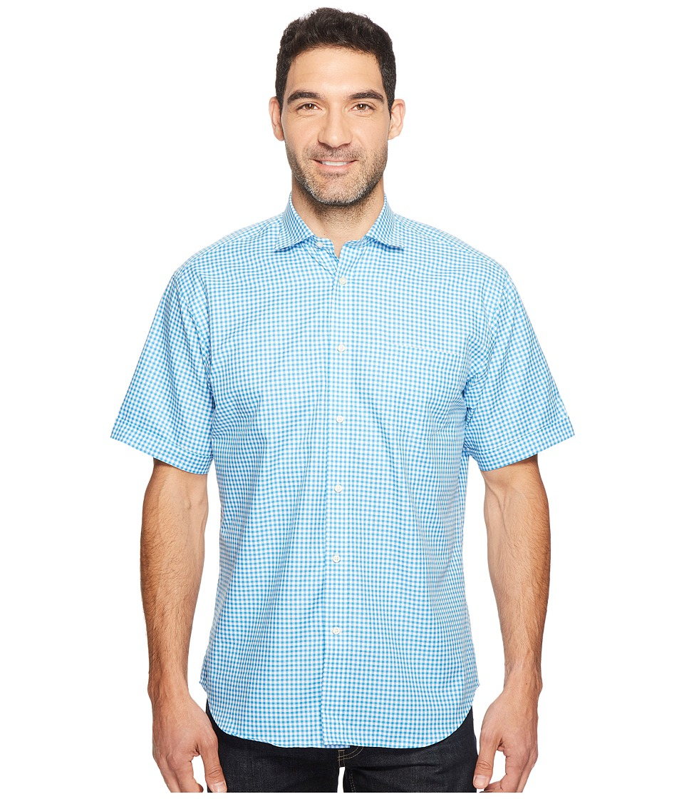 Thomas Dean & Co. - Short Sleeve Gingham Check Sport Shirt