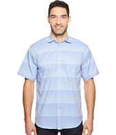 Thomas Dean & Co. - Short Sleeve Horizontal Stripe Sport Shirt