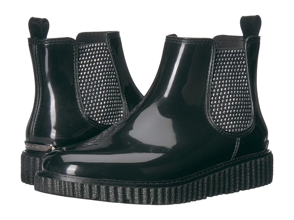 MICHAEL Michael Kors Lulu Rain Bootie (Black Rubber/Hot Fix Elastic) Women