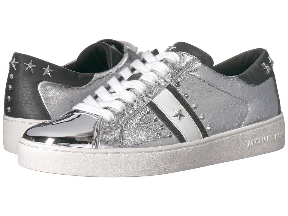 MICHAEL Michael Kors Frankie Stripe Sneaker (Silver Metallic Nappa/Nappa) Women