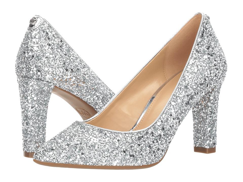 MICHAEL Michael Kors Abbi Flex Pump (Silver Chunky Glitter) High Heels