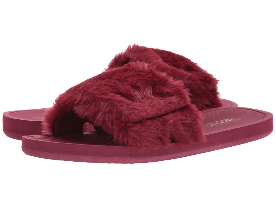 MICHAEL Michael Kors MK Slide (Mulberry Faux Fur) Women