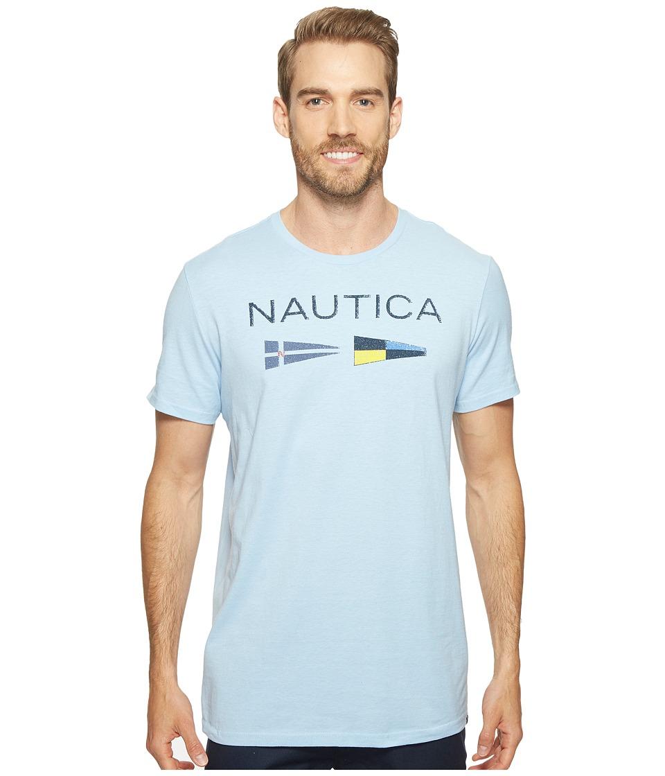 Nautica Nautica Flags Tee (Light Haze) Men